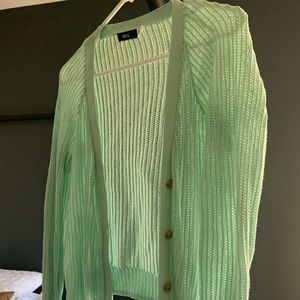 Knit cardigan from Urban Outfitters; mint